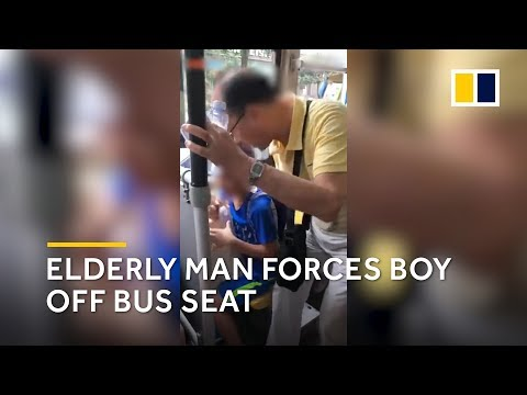 Elderly man in China forces boy to give up his bus seat