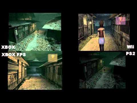 Fatal Frame 2 (Project zero 2) XBOX VS PS2 VS Wii