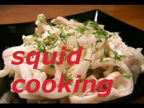 HOW TO CLEAN AND PREPARE SQUID How To Cook Squid SQUID CACCIATORE OVER NOODLES
