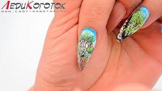 Дизайн ногтей. Микроживопись