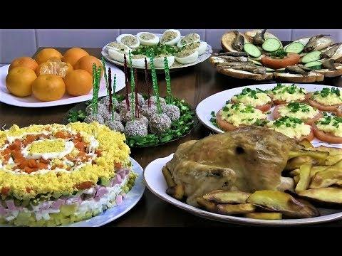 Праздничный Новогодний стол 2019 на 1000 руб. - 6 простых рецептов.
