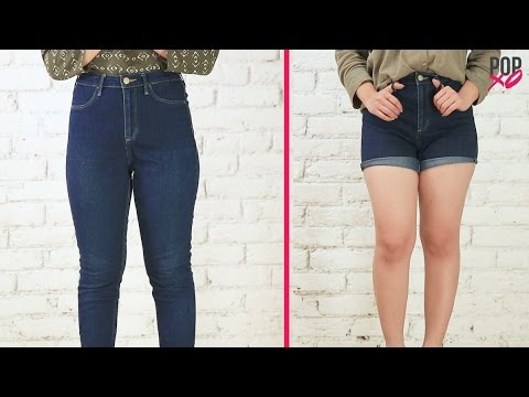 How To Make Denim Shorts Out Of Jeans - POPxo - YouTube