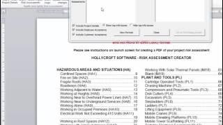 Risk Assessment Method Statements RAMS Software Demo