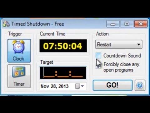 Auto PC Shut Down - Shut Down Timer - YouTube