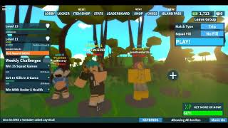 Trios On Island Royale With Jaystical and raymond sanburg(Roblox)