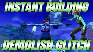 Destroy any building with 40 mats | Fortnite Instant Building Demolish Glitch ***PATCHED***
