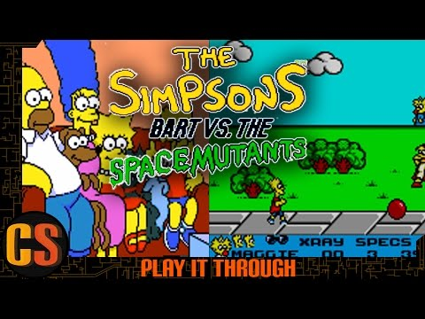 SIMPSONS BART VS THE SPACE MUTANTS  - PLAY IT THROUGH (Game Gear)