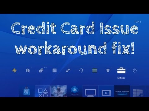Ps4 Psn Playstation Credit Card Not Working Information Invalid Not Valid Accepted Worka