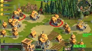 Age of Empires Online - PvP - 2v2 - Celts + Egyptian vs Greek + Greek
