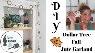 $5 DIY Dollar Tree Jute Fall Garland