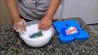 RECEITA DE LIQUIDIFICADOR:Sabão brilhante com sal em barra
