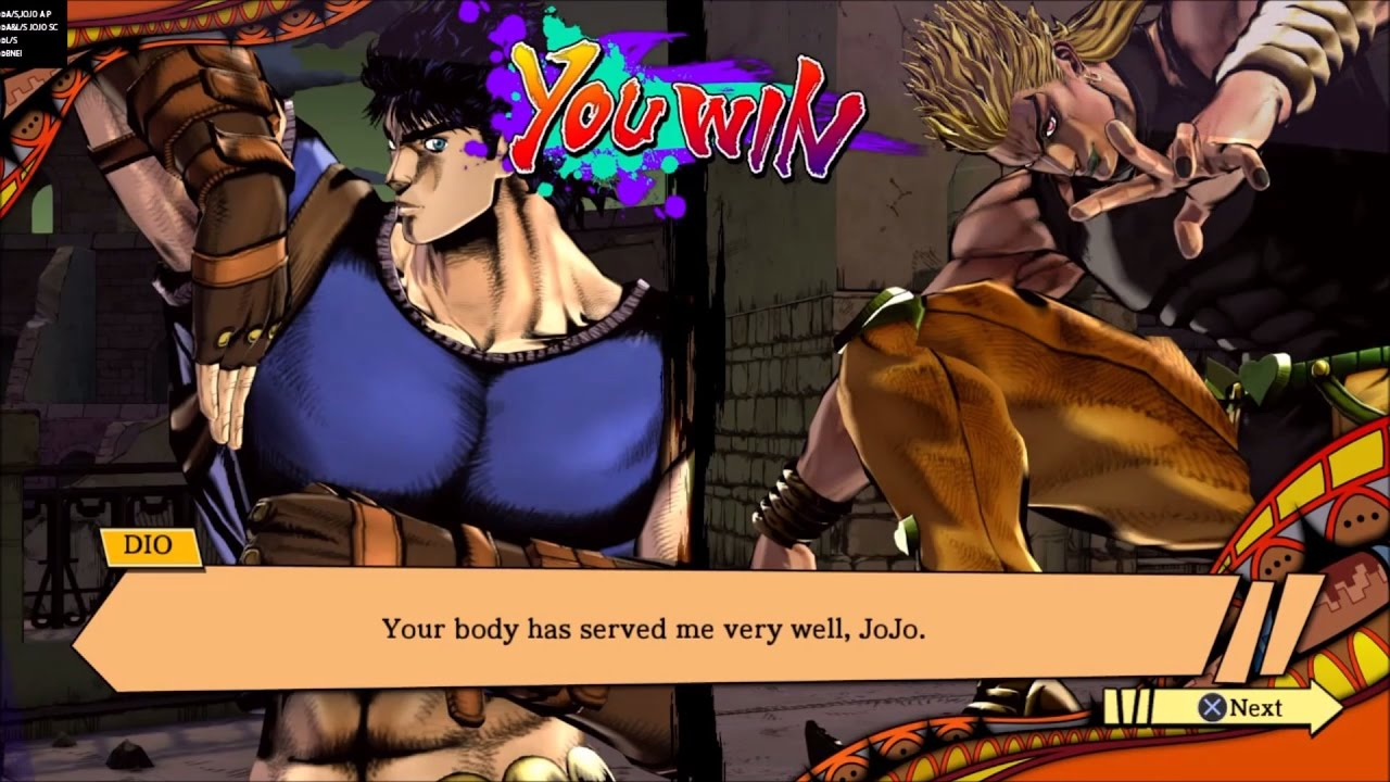 JJBA: EOH - Jonathan and Dio/DIO Interactions