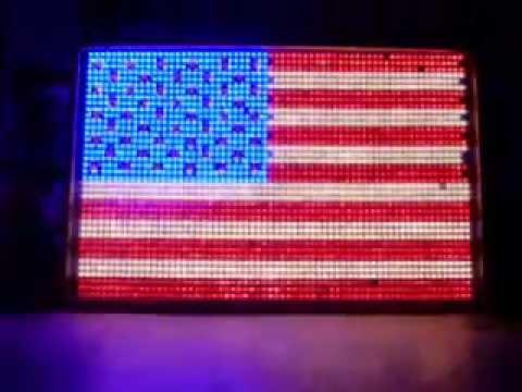 Huge Animated American Flag - 4ft X 8ft