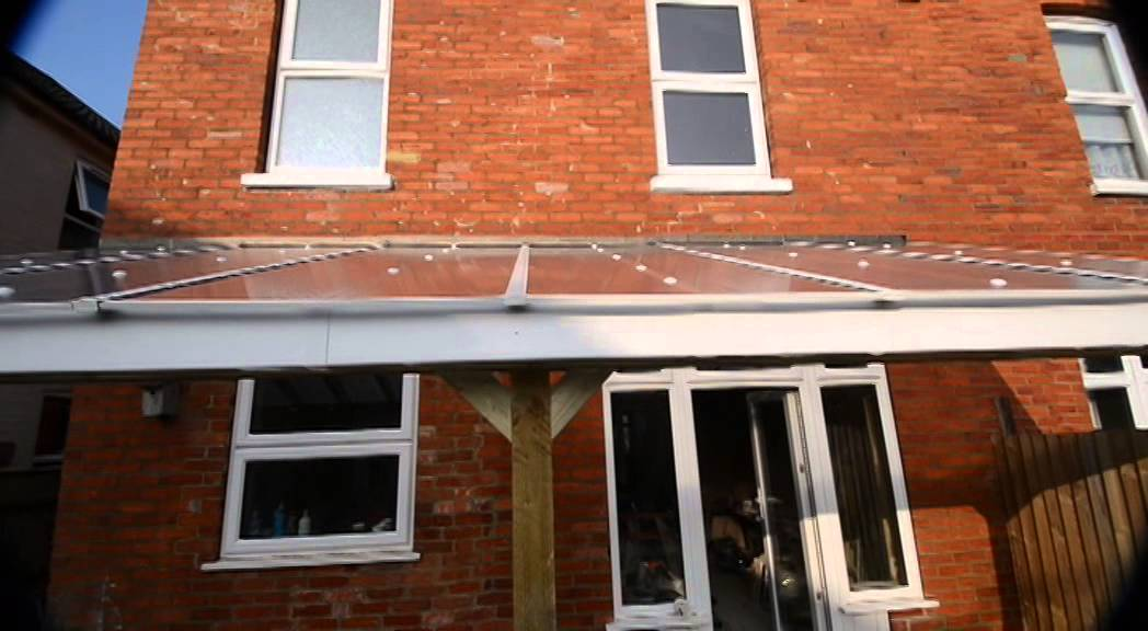 DIY Veranda Patio Cover, Lean To, Car Port, DIY Project. How To.   YouTube