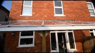 DIY Veranda patio cover, lean-to, car port, DIY project. How to.