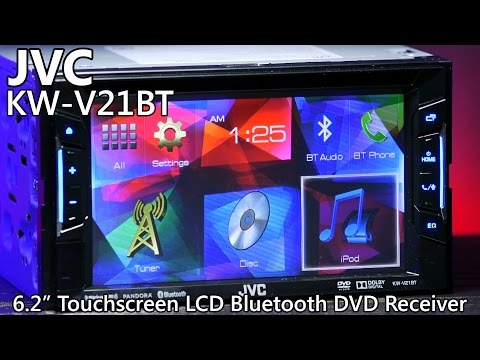 jvc kw v21bt double din bluetooth dvd receiver touchscreen youtube