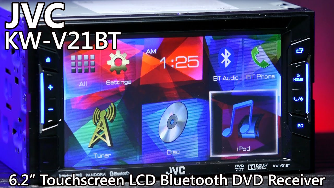 jvc kw v21bt double din bluetooth dvd receiver touchscreen [ 1280 x 720 Pixel ]