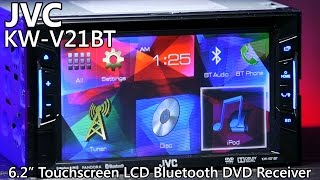 JVC KW-V21BT Double Din Bluetooth DVD Receiver - TOUCHSCREEN