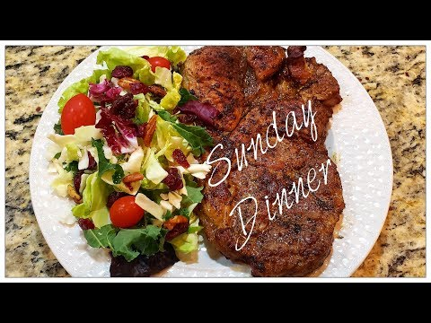 😋Pork Shoulder Steak Dinner🍽Sunday Dinner🍽30 Minute Meal😋