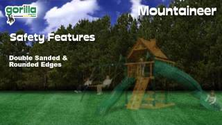 Kids Playing On The Mountaineer Swing Set