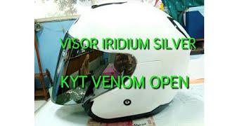 PASANG VISOR IRIDIUM SILVER KYT VENOM OPEN DI KYT KYOTO |2 vlog