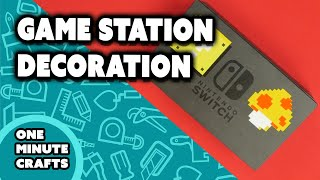 GAME STATION DECORATION - One Minute Crafts