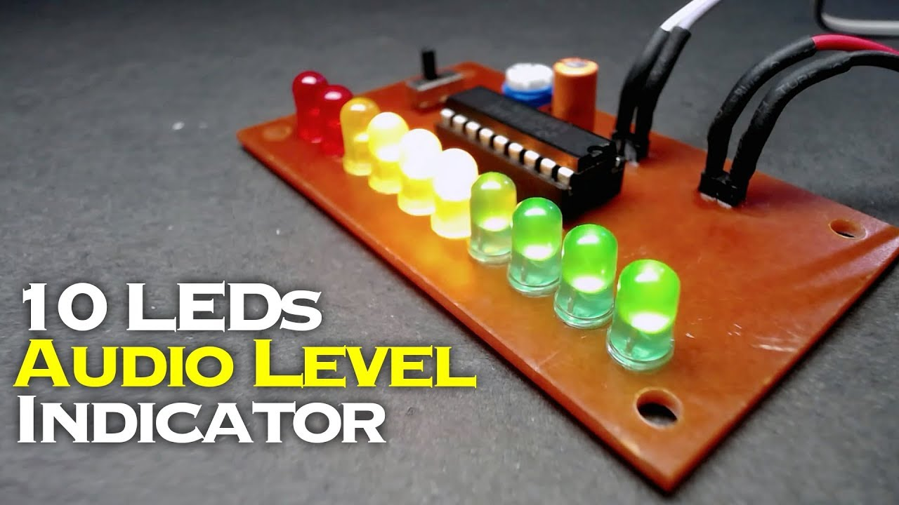 Simple 10 Leds Audio Level Indicator Using Lm3915 Youtube Circuit With Discoloring Lightemitting Diode Basiccircuit