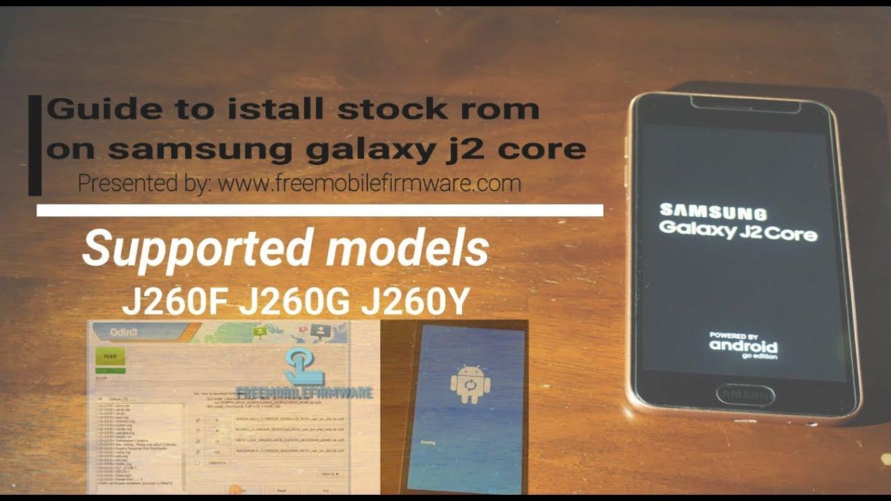 Flash samsung galaxy J2 Core Oreo 8 1 0 J260F J260G J260Y