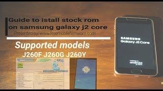 Download Repair Firmware Galaxy J2 Core Sm J260m MP3, MKV, MP4