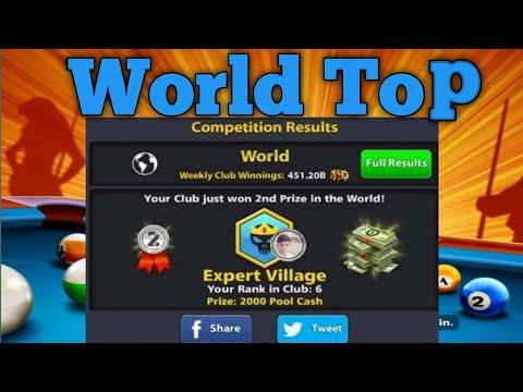 8 ball pool world top in club expert village __ and dangar shot