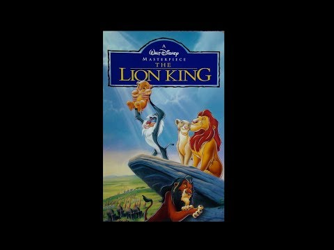 Digitized opening to The Lion King (Canadian VHS).