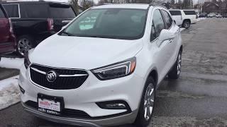 2018 Buick Encore AWD Premium Heated Steering Sunroof White Oshawa ON Stock #180890