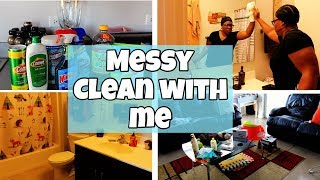 MESSY CLEAN WITH ME WITH MOTIVATION | AFFORDABLE CHEAP PRODUCTS