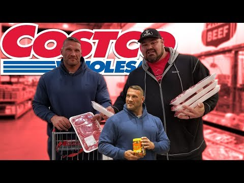 COSTCO SHOPPING TRIP WITH TERRY HOLLANDS | 25LBS OF MEAT | BRIAN SHAW