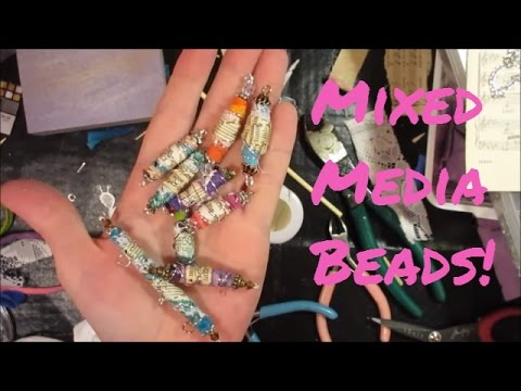 Tutorial: BoHo Mixed Media Bead Charms - Make Beautiful Beads Out of Scrap Fabrics!
