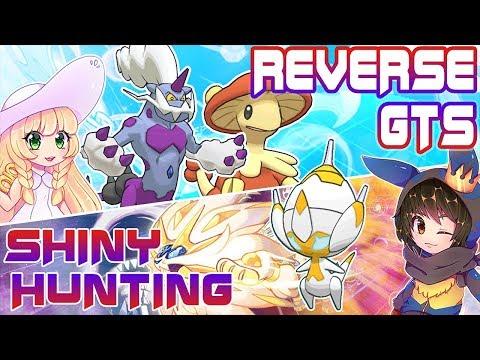LIVE TRIPLE Shiny Hunting Poipole   Pokemon Ultra Sun Moon   Reverse GTS Shiny Breloom and Thundurus