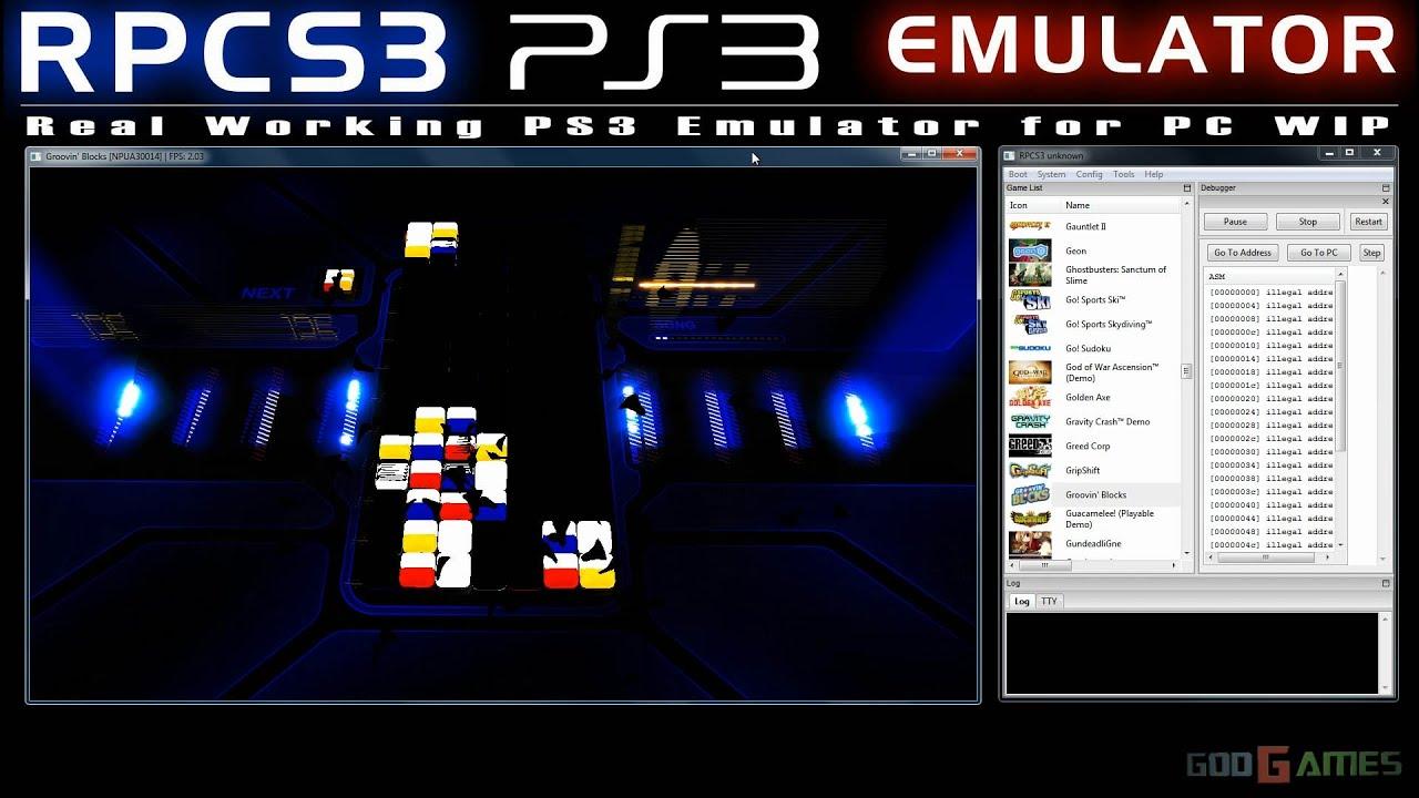 RPCS3 0.0.0.5 WIP PS3 Emulator - Groovin' Blocks Ingame ...