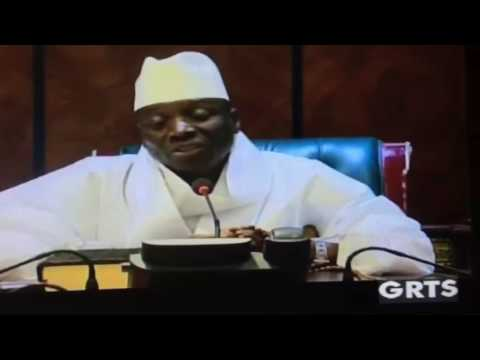 Yahya Jammeh addressing the nation after being defeated by Adama Barrow'