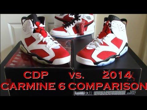 100% authentic 64bf9 eb948 Comparison / Jordan 6 Carmine : 2008 Countdown Pack vs. 2014 ...