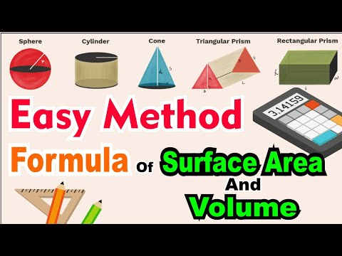 Formula Of Surface Area And Volume | Easy Method