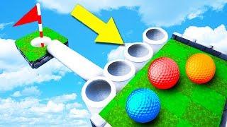 СТОЙ, ЭТО ЛОВУШКА! ЧУДОМ ПОПАЛИ В МЕГА 99% СЛОЖНУЮ ЛУНКУ В ГОЛЬФ ИТ (Golf It)