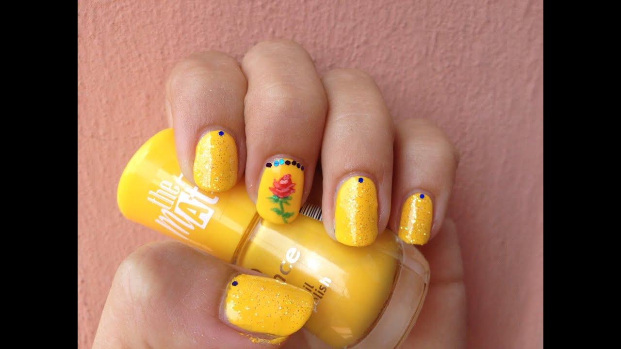 La Bella E Bestia Nail Art Beauty And The Beast Nails