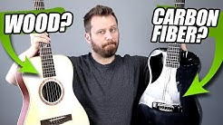 WOOD or CARBON FIBER? - Travel Guitar Tone Comparison!