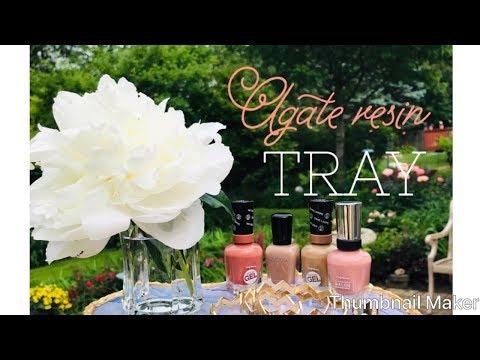 DIY Agate Resin Tray