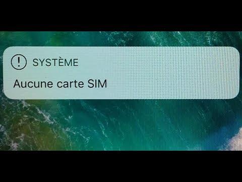 Problème Iphone Système Aucune Carte Sim System No Sim Card