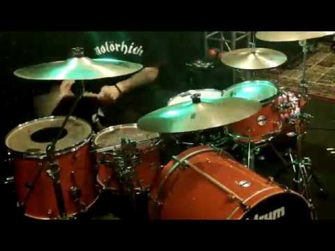 Dean Andrews Jr of The Lacs practicing on his DDrum kit