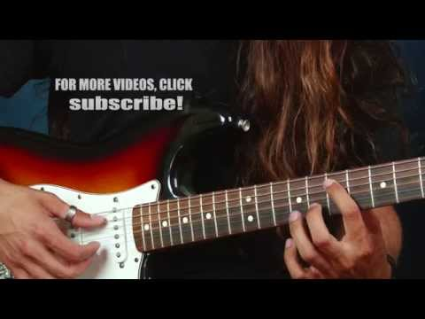 Learn electric guitar lesson Red Hot Chili Peppers inspired ideas chords create Scar Tissue style