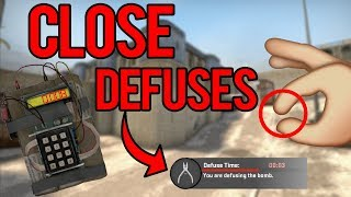 CS:GO - WHEN EVERY SECOND COUNTS! (PRO LAST SECOND DEFUSES)