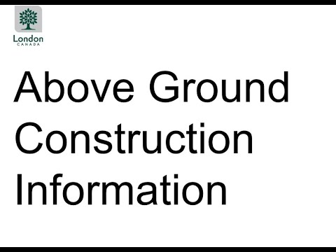 Project Update Meeting: Presentation Two - Information about Above Construction