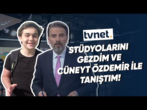 #VLOG4   TVNET'i Ziyaret Ettim ve Cüneyt Özdemir ile Tanıştım! (İlk Defa Haber Sundum!)